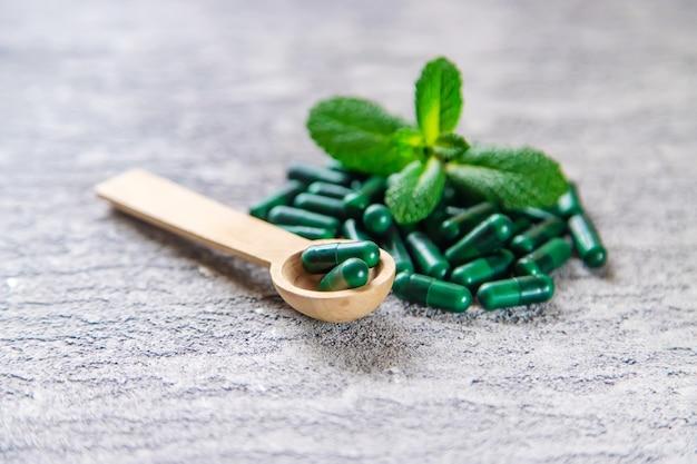 Homeopatia ervas.sedativos herbais. foco seletivo. objetos médicos