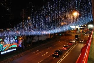 Hong kong luzes, escuro