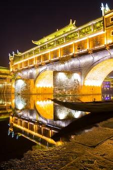 Hongqiao bridge fenghuang noite china