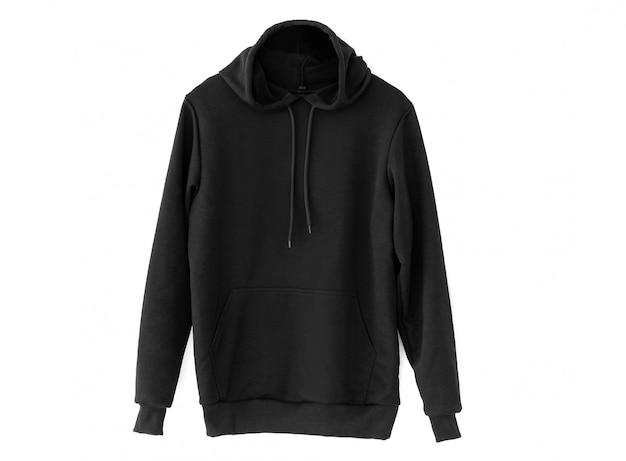 Hoodie preto confortável