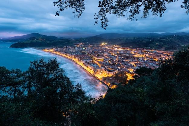 Hora azul em zarautz, país basco.