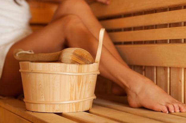 Hora de relaxar na sauna