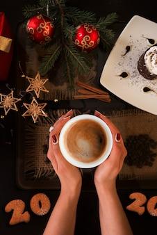 Hora do café do ano novo