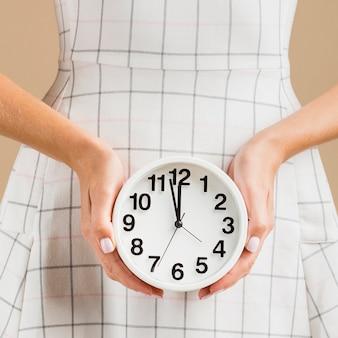 Hora do close-up do relógio do período do ano