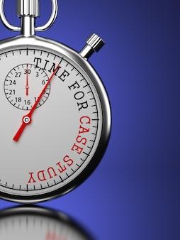 Hora do estudo de caso - cronômetro com o slogan
