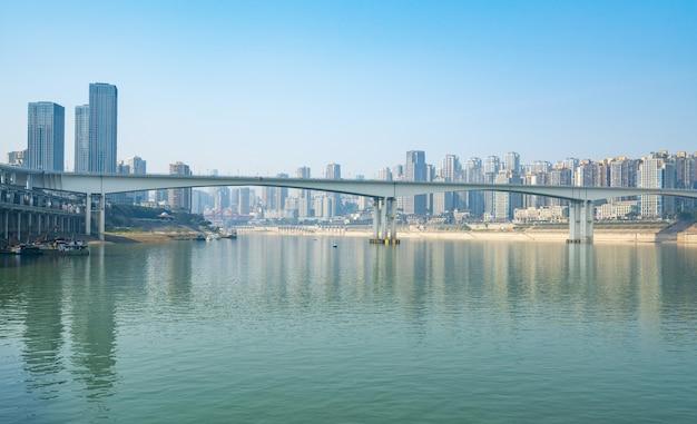 Horizonte de metrópole moderna, chongqing, china