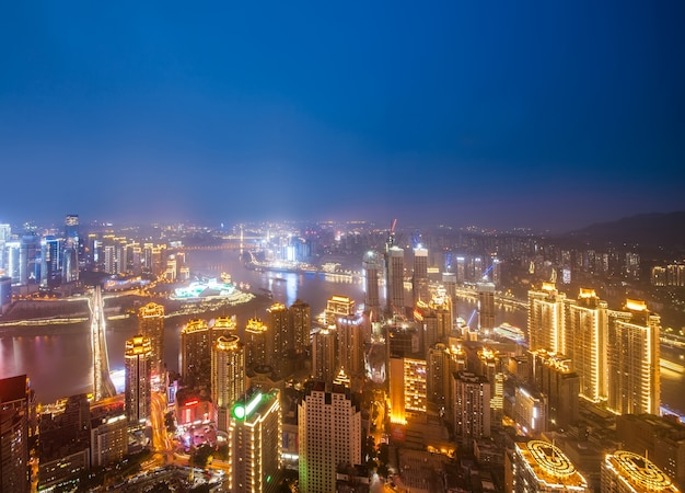 Horizonte moderno das metrópoles, chongqing, china,