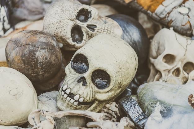 Horror crânios modelo abstrato do vintage