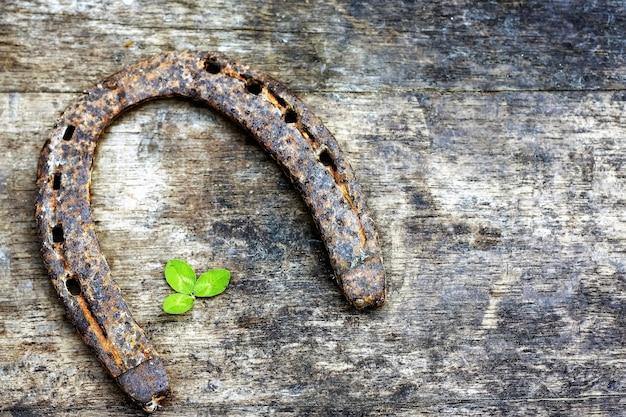 Horsehoe na madeira