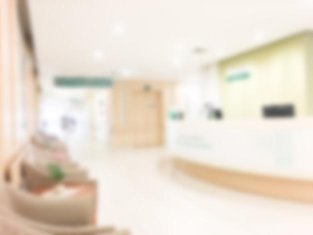 Hospital com efeito borrado