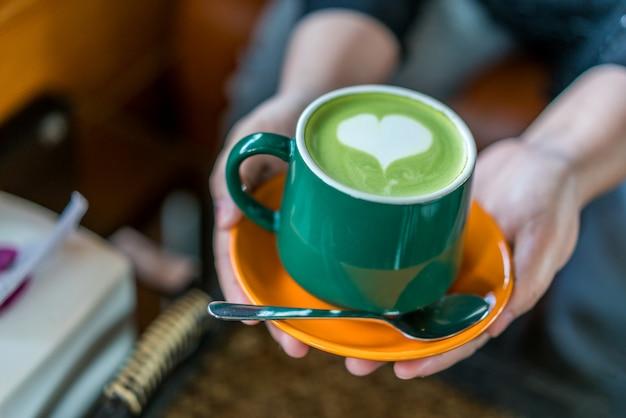Hot matcha chá verde