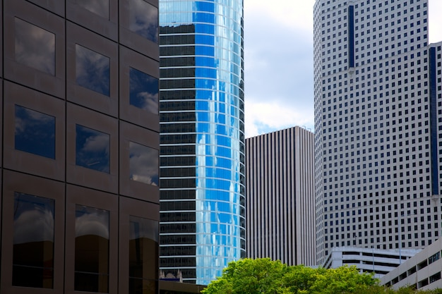 Houston texas skyline com skyscapers modernos