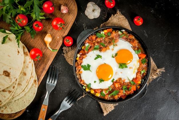 Huevos rancheros, comida mexicana