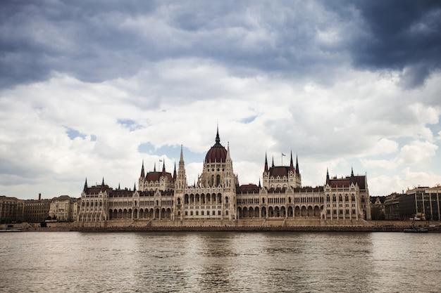 Hungria, vista do edifício do parlamento em budapeste