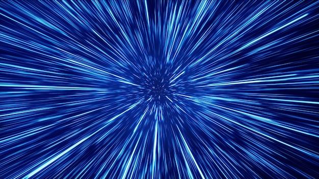 Hyper jump no espaço
