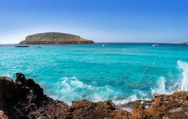 Ibiza cala comte conta praia baleares