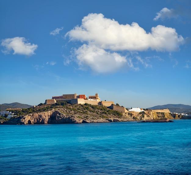 Ibiza eivissa castle e skyline em baleares