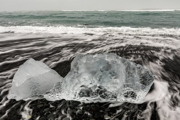 Iceberg diamond beach islândia