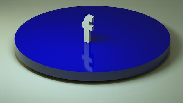 Ícone 3d de mídia social facebook