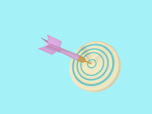 Ícone 3d de negócios em fundo de cor pastel.