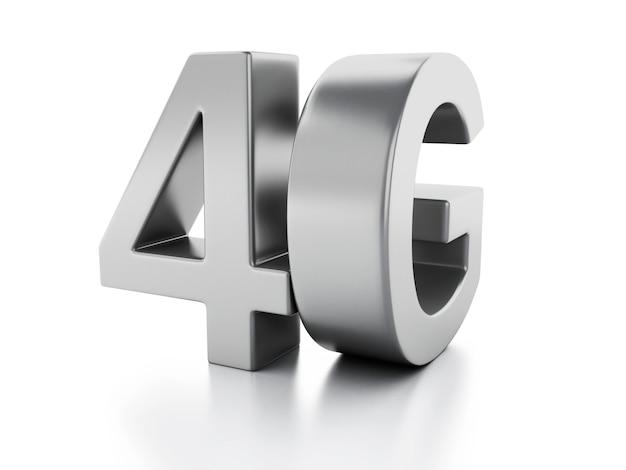 Ícone 4g. conceito de tecnologia de comunicação sem fio