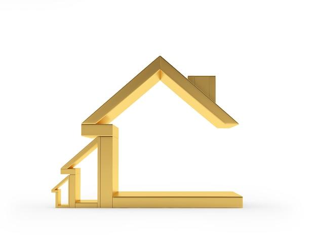 Ícone casa dourada