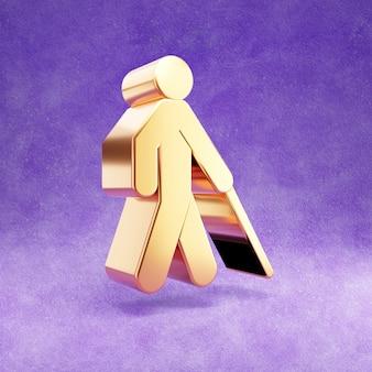 Ícone cego isolado em veludo violeta