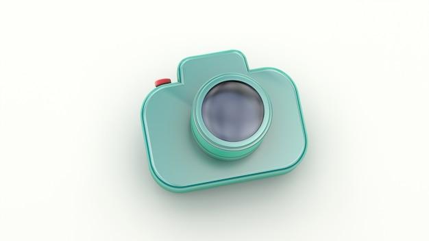 Ícone da câmera fotográfica isolado no branco