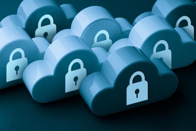 Ícone da tecnologia de nuvem em fundo colorido & criativo para o conceito de online e offline