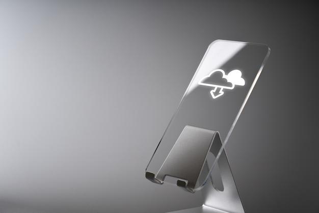 Ícone da tecnologia de nuvem para o conceito de negócio global