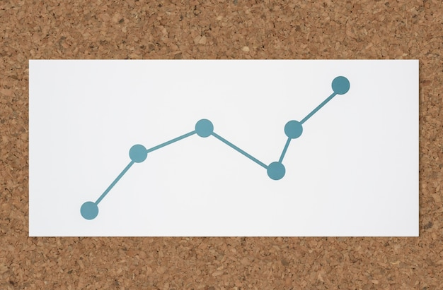 Ícone de análise de dados de gráfico de linha