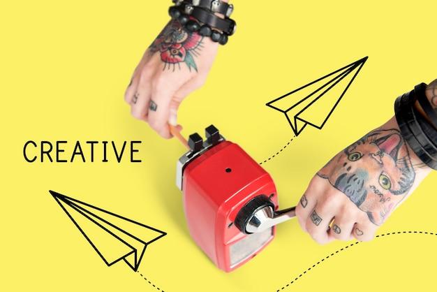 Ícone de avião de papel de design criativo