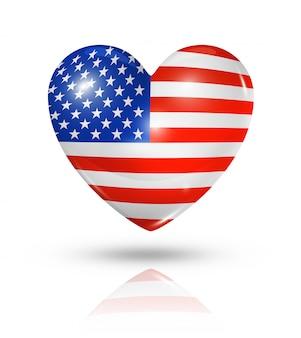Ícone de bandeira do coração eua amor