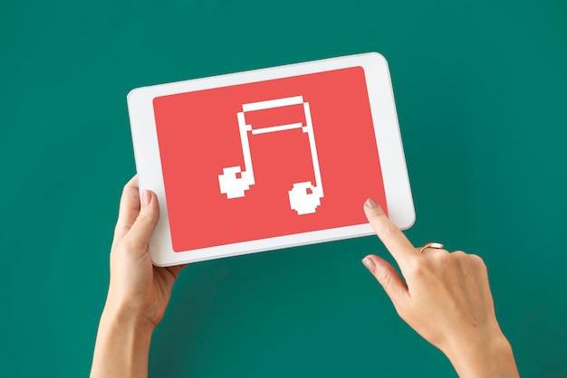 Ícone de batida de áudio de ritmo de nota musical