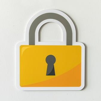Ícone de bloqueio de segurança de segurança de privacidade