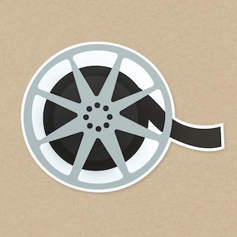 Ícone de bobina de filme isolado