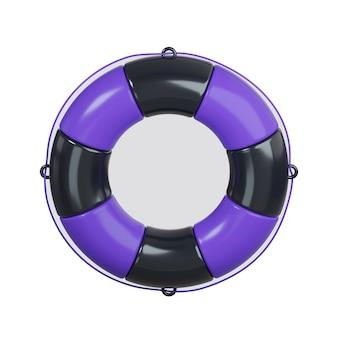 Ícone de boia salva-vidas isolado no branco
