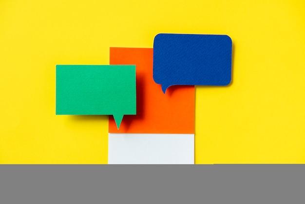 Ícone de bolha de discurso de mensagens de bate-papo
