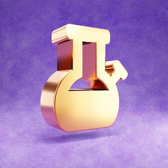 Ícone de bongo isolado em veludo violeta