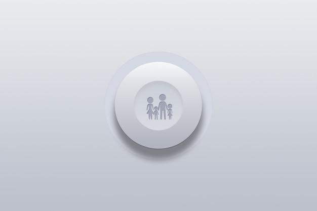 Ícone de botão de símbolo da família
