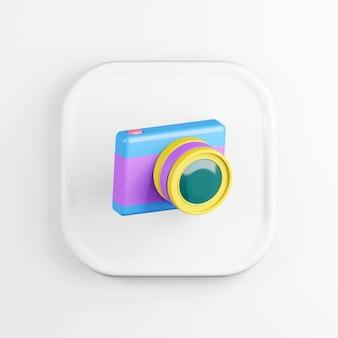Ícone de câmera fotográfica digital multicolorida