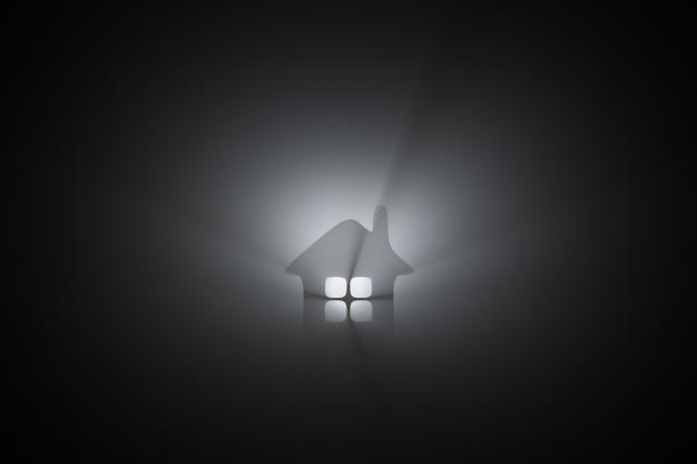 Ícone de casa brilhante. tópicos imobiliários