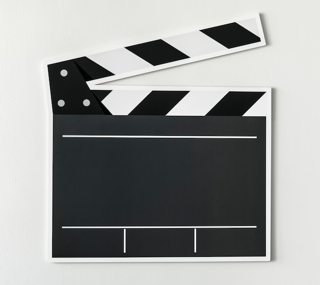 Ícone de claquete preto e branco