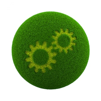 Ícone de configuração de esfera de grama