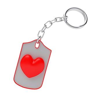 Ícone de coração vermelho no chaveiro