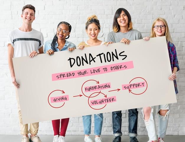 Ícone de doações de apoio à caridade e bem-estar