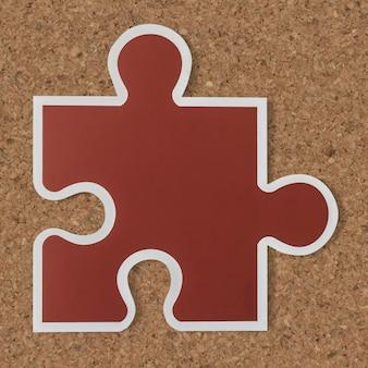 Ícone de estratégia de peça de quebra-cabeça