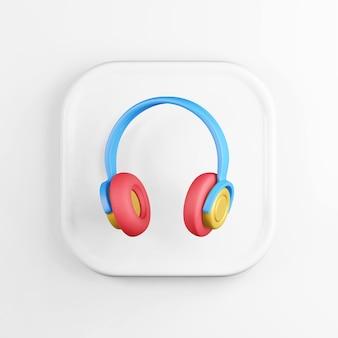 Ícone de fones de ouvido multicoloridos