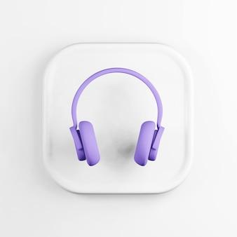 Ícone de fones de ouvido roxo