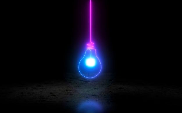 Ícone de lâmpada de néon